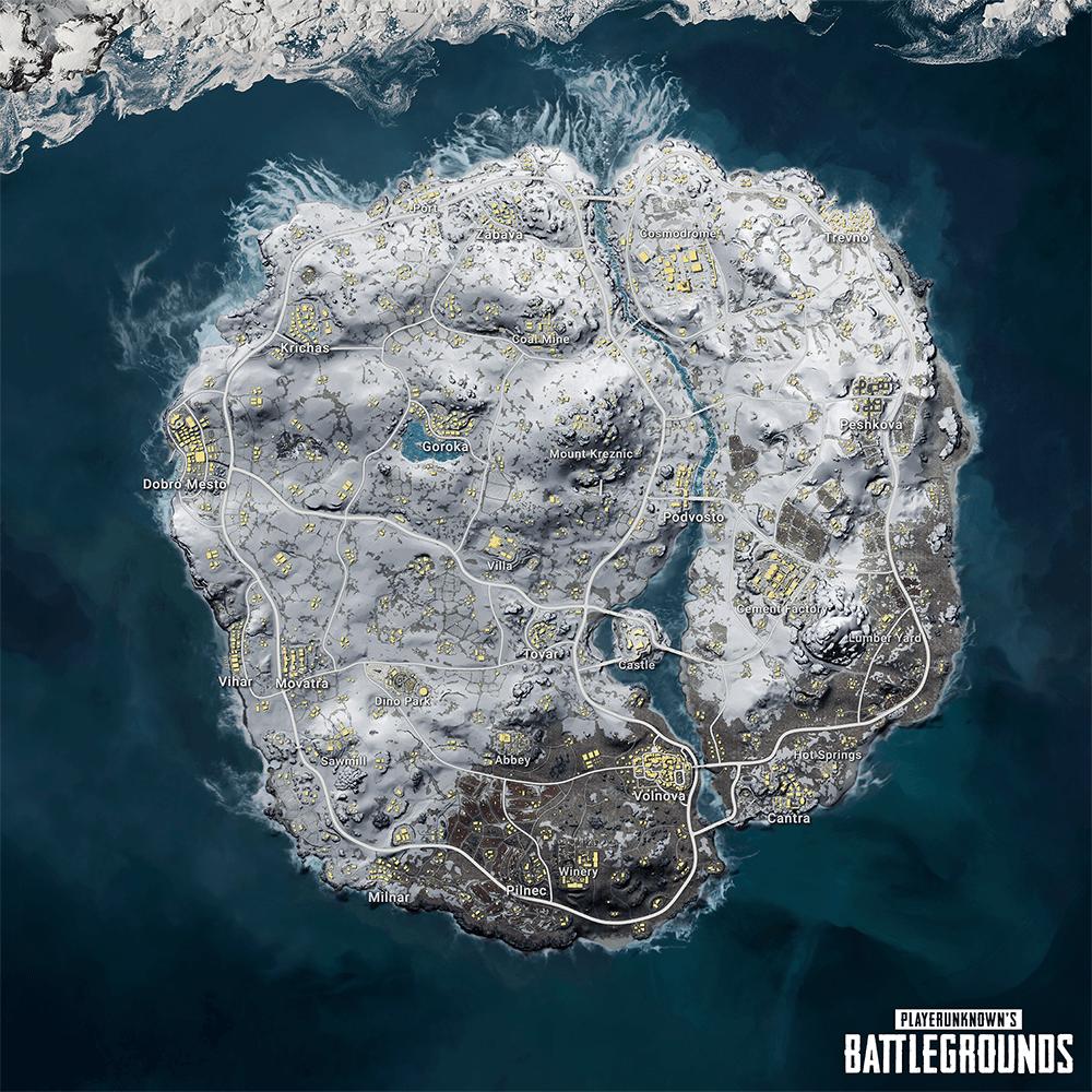 зимняя карта vikendi
